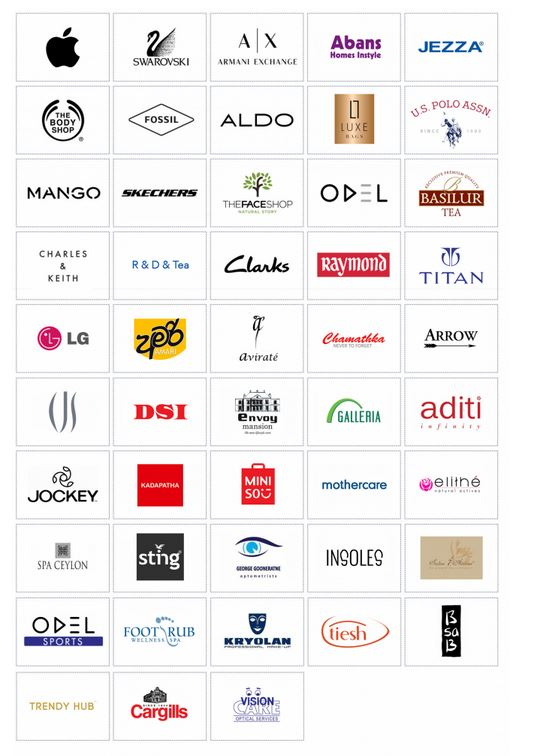 Colombo city center brand names