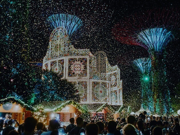 Christmas wonderland Garderns by the bay Singapore