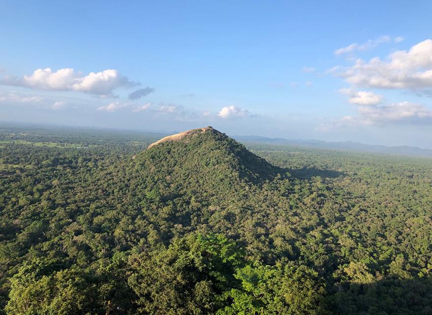 Pidurangala Temple view from the Sigiriya