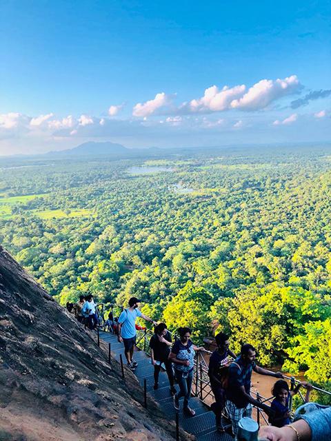 Stairs view of Sigiriya
