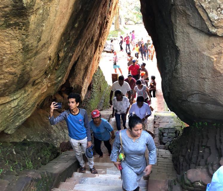 Starting point of Sigiriya